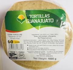 Tortilla de maíz Blanco